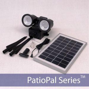 24-LED Solar Spotlight & Flag Light 50W with Ultra Bright LEDs
