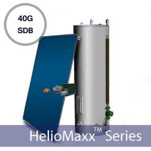 40G Drainback Flat Plate Solar Hot Water Kit