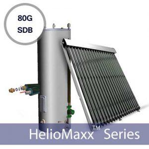 80G Drainback Evacauted Tube Solar Hot Water Kit