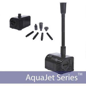 AquaJet 24V Solar Water Fountain Kit Night and Day