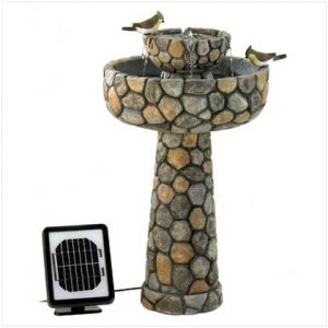 AquaJet Wishing Well Solar Powered Cascading Water Fountain