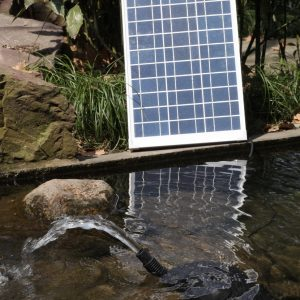 Solar Water Fountain Pump with Battery Backup – AquaJet Custom Kit 24V with Battery Backup