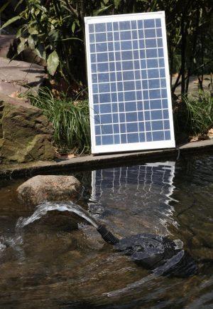 Solar Water Fountain Pump with Battery Backup – AquaJet Custom Kit 24V with Battery Backup