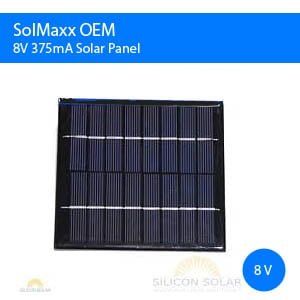 12V DC Solar Panel 1.3 Watts