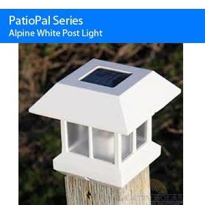 Alpine White Post Light