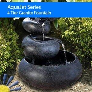 Birdbath Fountain 4 Tier Granite Solar Fountain