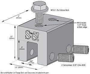 1 inch Female Open Loop Flange for StorMaxxNP Tanks