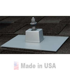 QUICK MOUNT PV 9″X12″ E-MOUNT COMPOSITION MOUNT FLASHING – MILL FINISH