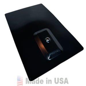 ECOFASTEN SOLAR QUIKFOOT 8″X12″ ALUMINUM FLASHING, MATTE BLACK