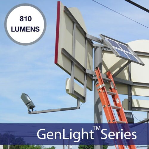 Commercial Solar Led Sign Light 810 Lumens 108 Leds With 5 Year Warranty