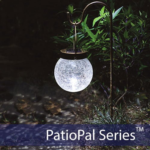Solar Crackled Globe Light Silicon