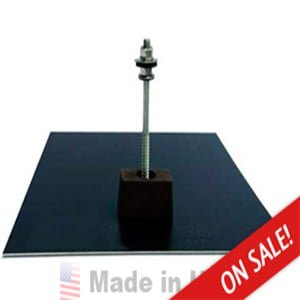 QUICK MOUNT PV 12″X12″ CLASSIC COMPOSITION MOUNT FLASHING – BLACK FINISH