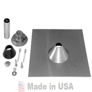 QUICK MOUNT PV 12″X12″ QBASE COMPOSITION MOUNT FLASHING – MILL FINISH