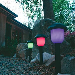 SOLAR PARTY COLOR-CHANGING PATH LIGHT