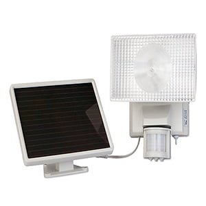 SOLAR-POWERED 30 WATT MOTION-ACTIVATED OUTDOOR SECURITY FLOODLIGHT