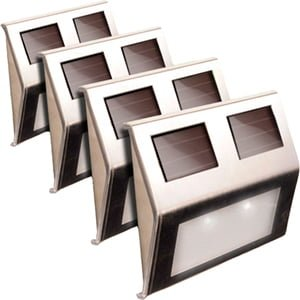 SOLAR-POWERED METAL DECK LIGHT – 4 PACK