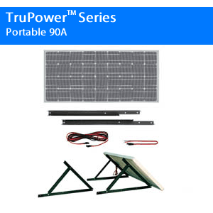 TruPower Portable Solar Power Add-On Kit 85A -90A