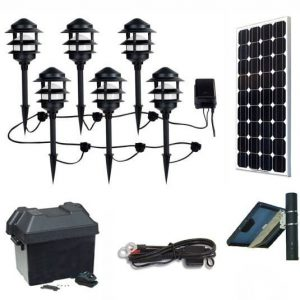 SolScape 1X Solar Landscape Lighting Kit with Bluetooth Sound System