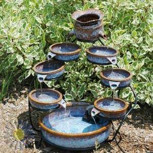 Duo Cascading Solar Water Fountain