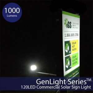 Solar Sign & Flood Light with 150 Watt Output