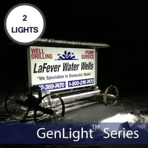 Outdoor Solar Sign Light for Entrance & Surface Signs GenLight 4X
