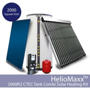 HelioMaxx Solar Hot Water and Space Heating Combi Kit w/CTec – 2000 square feet (Collectors Not Included)