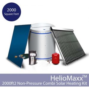 HelioMaxx Solar Hot Water and Space Heating Combi Kit w/NP Tank- 2000 square feet (Collectors Not Included)