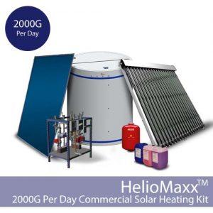 HelioMaxx Commercial Solar Thermal Kit – 2000G