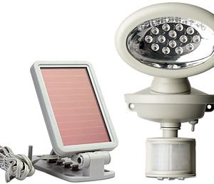 Solar Powered 14 LED Outdoor Security Flood Light