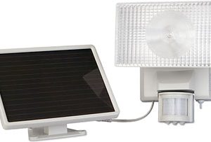 Solar Powered 30 Watt Halogen Outdoor Security Flood Light