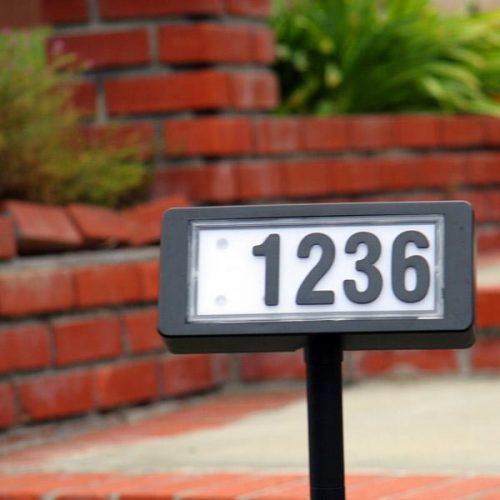 Solar Address Lights