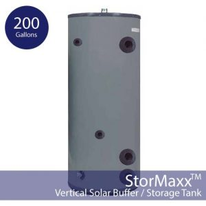 200 Gallon Pressurized Buffer Tank – Vertical and Insulated