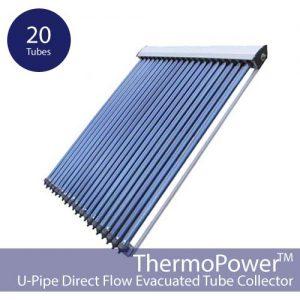 20 Vacuum Direct Flow Solar Collector