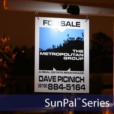 Solar Real Estate Sign Lights