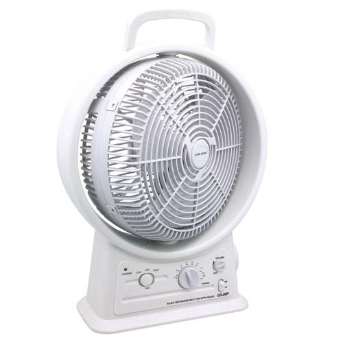 fan with amfm radio