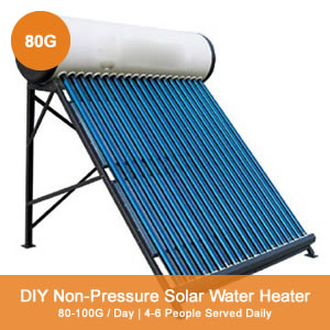 80g Non-Pressure DIY Thermosyphon Solar Water Heater