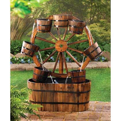 Aquajet Wagon Wheel Solar Powered Cascading Water Fountain