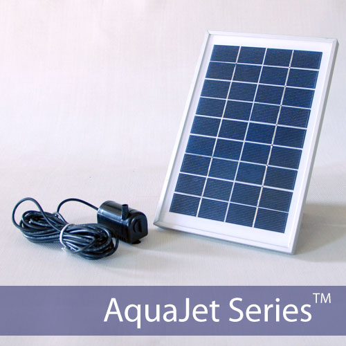AquaJet Solar Fountain Kit Aluminum Frame
