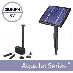 Solar Fountain Submersible Pump Kit 6V 1.5 Watt - AquaJet Solar Fountain Kit
