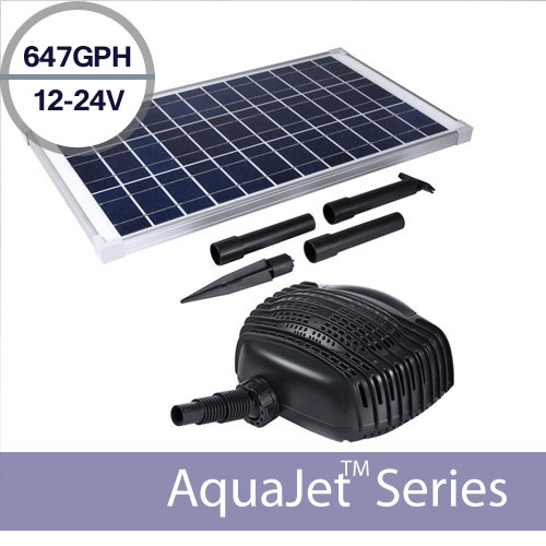 24v 647gph High Ed Solar Waterfall Pump