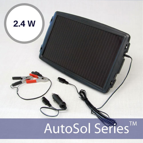 Solar Car Battery Tender 12V 2.4W