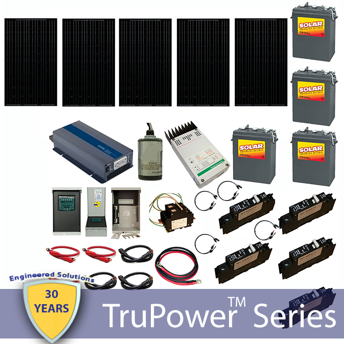 trupower ac off grid cabin kit 800w cloudy shop solar
