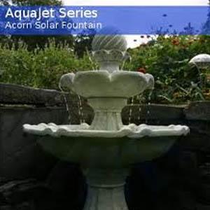 Acorn Solar Birdbath Fountain