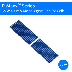 400mA 0.22W Commercial Solar Cell