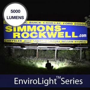 EnviroLight 2x 5000 Lumens Solar Billboard Lighting Kit