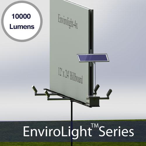 Retrofit Poster Panel Solar Billboard Kits For 10 X 22ft Sign