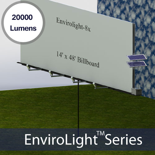 Standard Billboard Solar Powered Sign Lighting System Pre-packaged Kits EnviroLight 8X