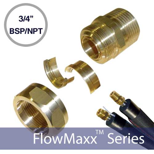 FlowMaxx 3/4in BSP to NPT Line Set Fittings – Male Thread