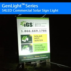 GenLight Series 54 LED Commercial Solar Sign Light - Copy