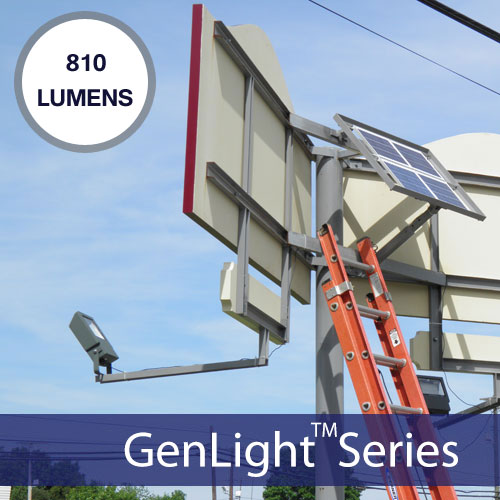 Commercial Solar LED Sign Light | 1600 Lumens with 5 Year Warranty